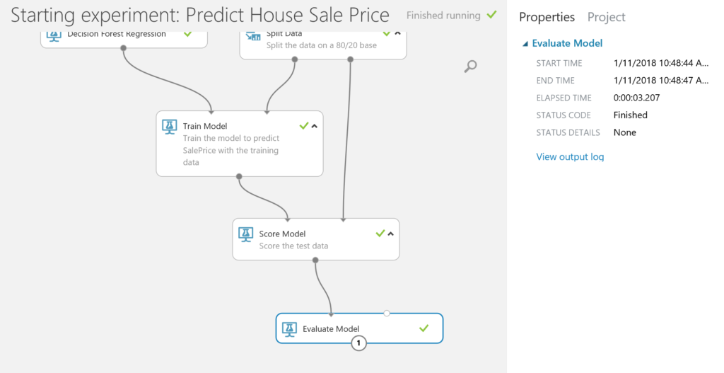 Predict House Sale Price - evaluate model