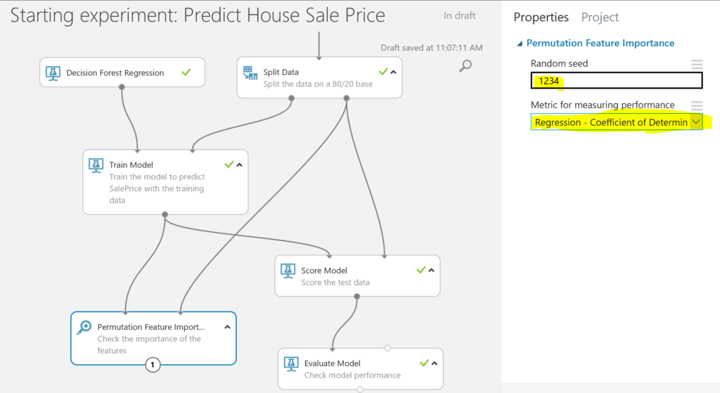 Predict House Sale Price - feature importance