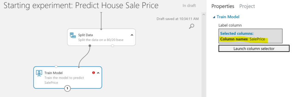 Predict House Sale Price - train model
