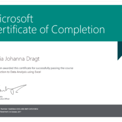 Microsoft Certificate of completion Microsoft Professional Program - Data Science Track Certificates Package