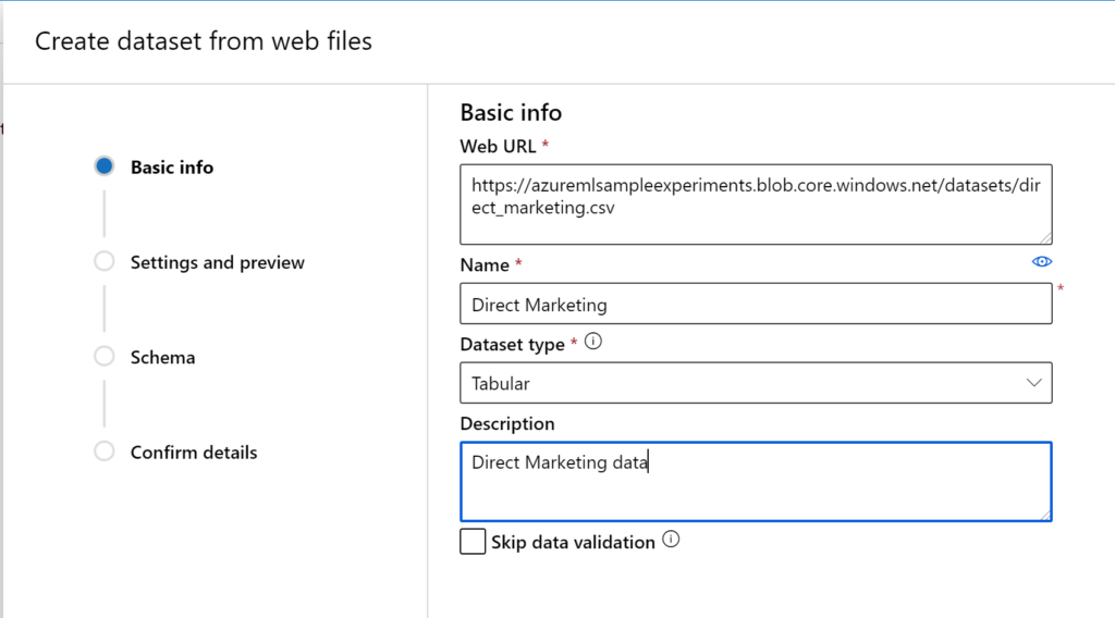 direct marketing ai workshop - create dataset